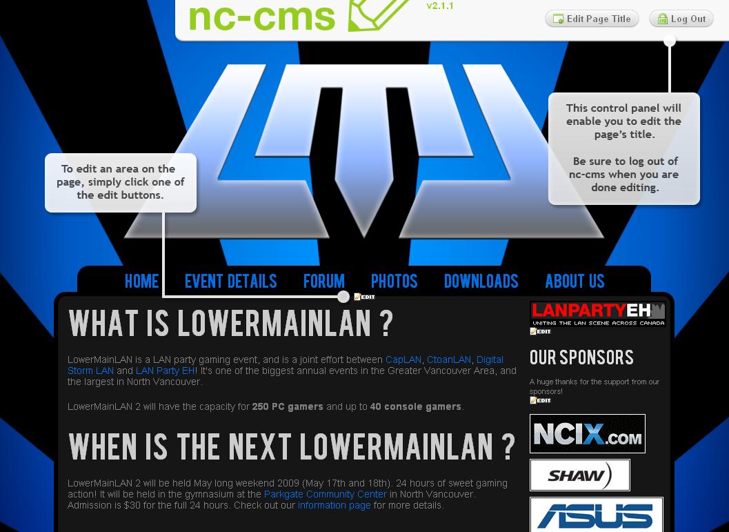 nc-cms Screenshot 1