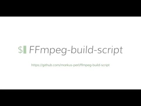 How-To build FFmpeg on OSX