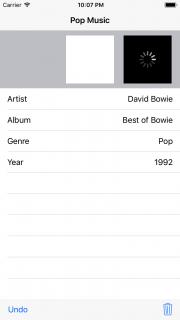 Album cover scroller