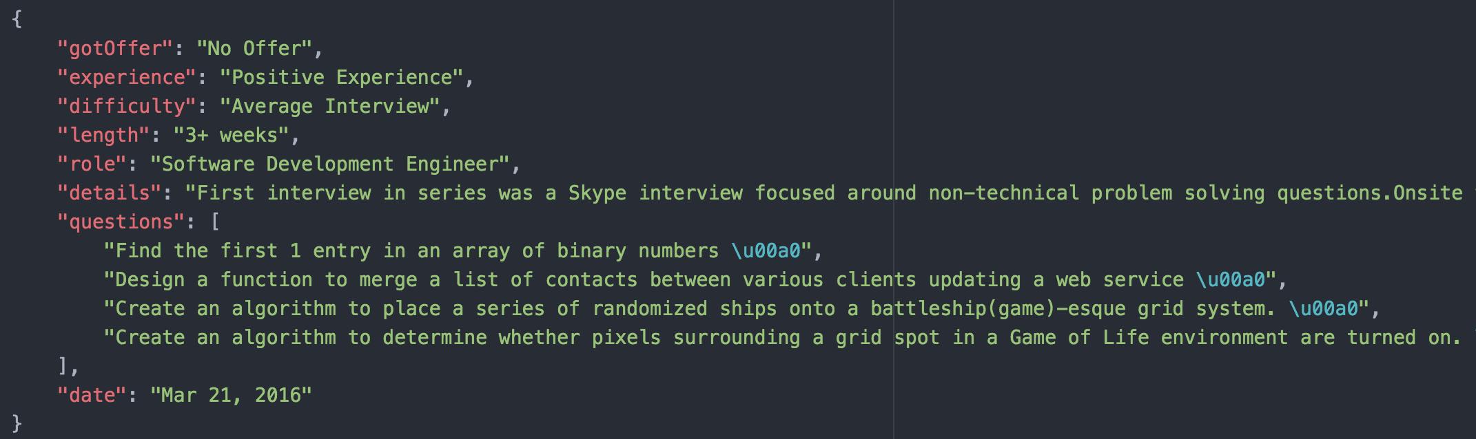 GitHub - williamxie11/glassdoor-interview-scraper: Web scraper for