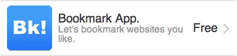 Bookmark App