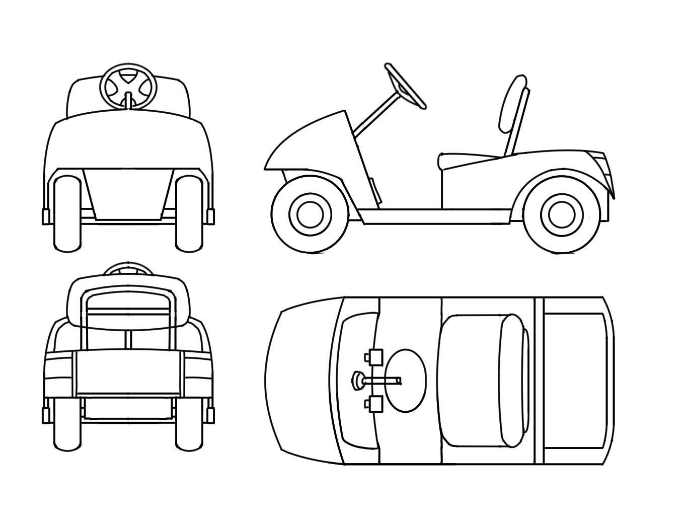 Club car golf cart frame sh3 me for Golf cart plans