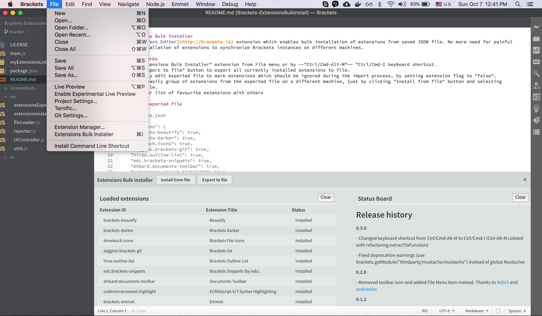 GitHub - milosh86/Brackets-ExtensionsBulkInstall: Brackets