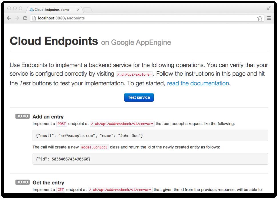 Endpoints API demo