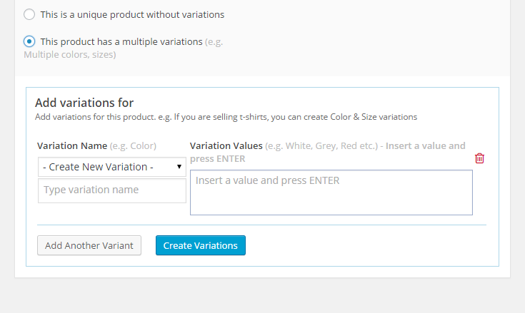 MarketPress - Creating Product Variants