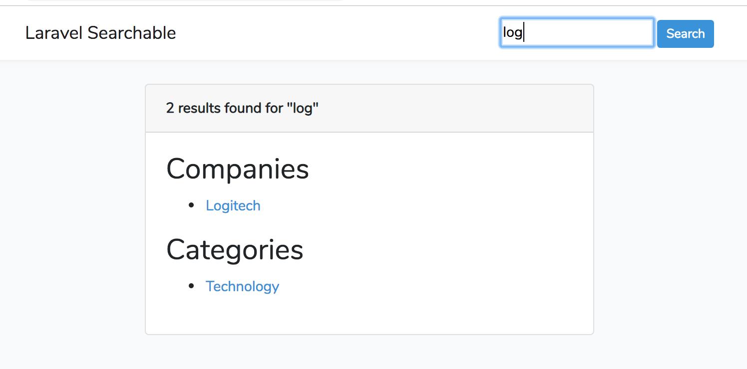Laravel Searchable screenshot 2