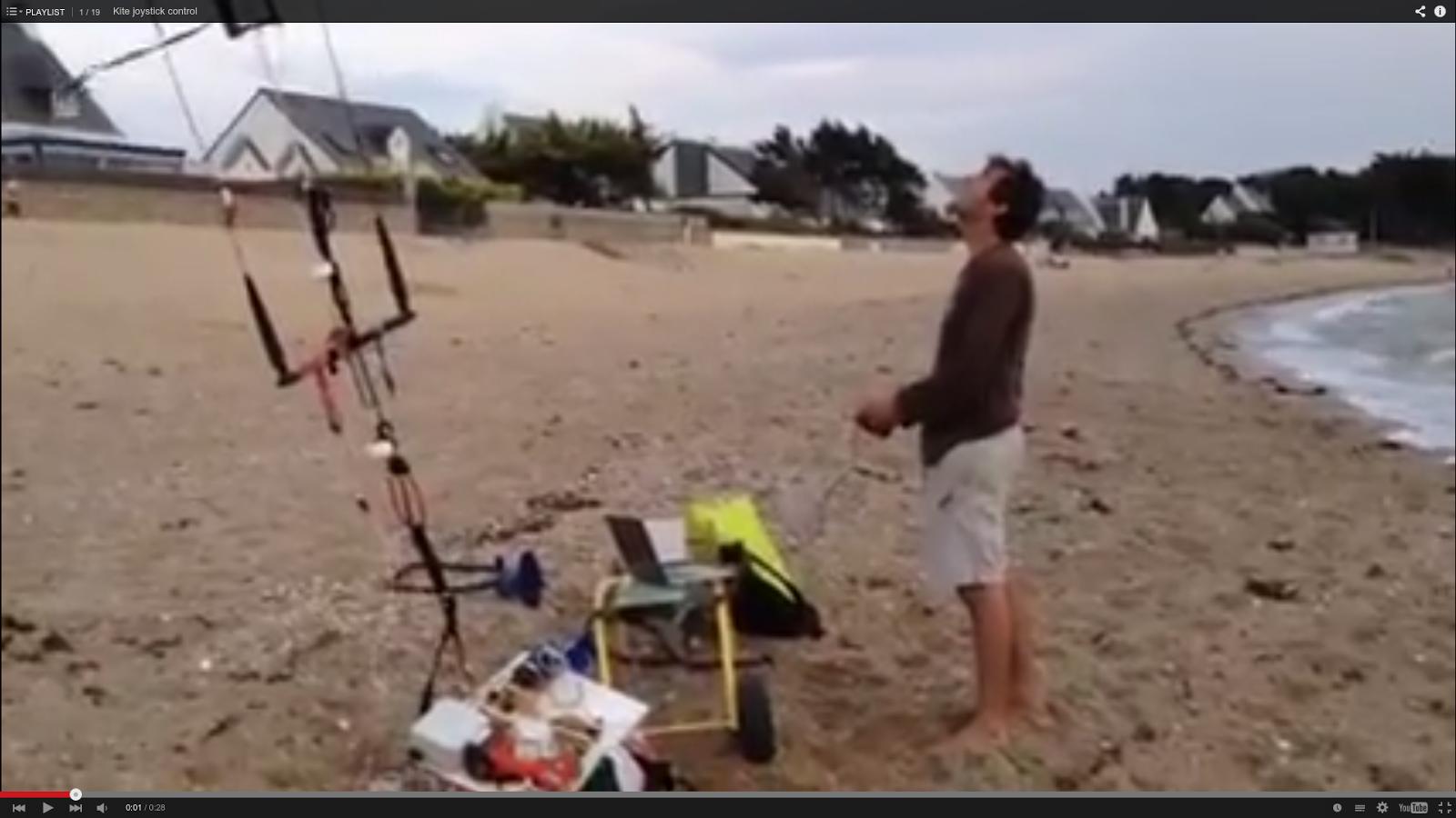 Joystick kite control