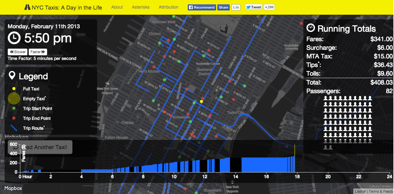 NYC Taxi Visualization Screenshot