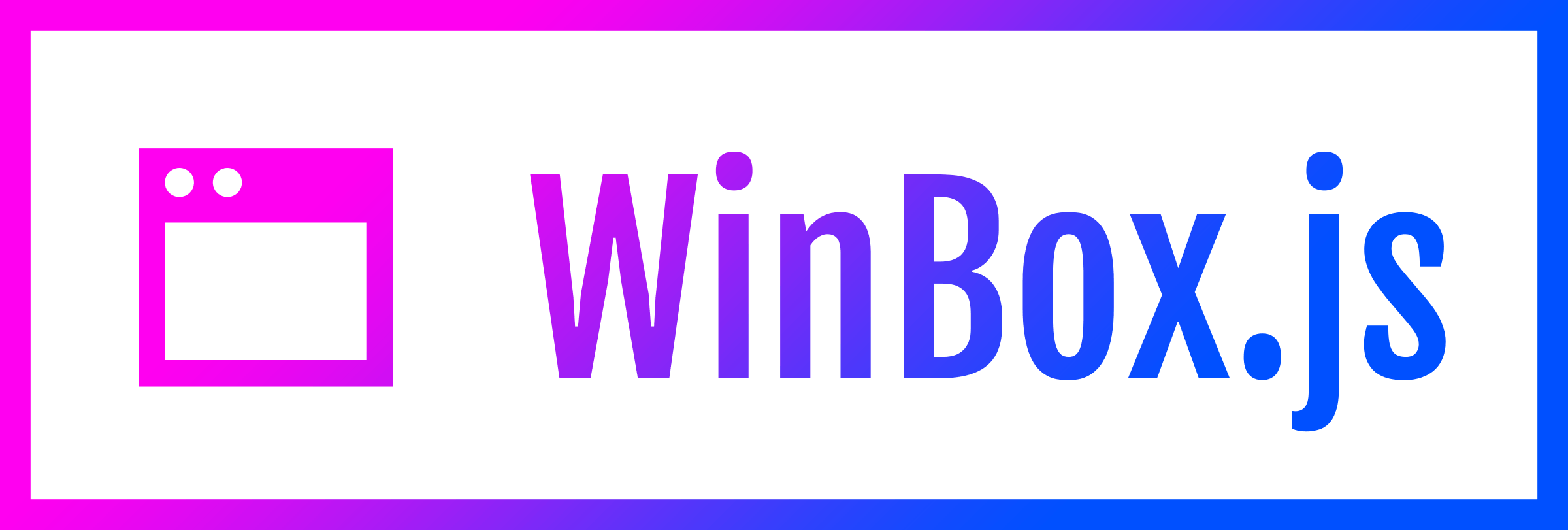 WinBox.js: HTML5 Window Manager for the Web.