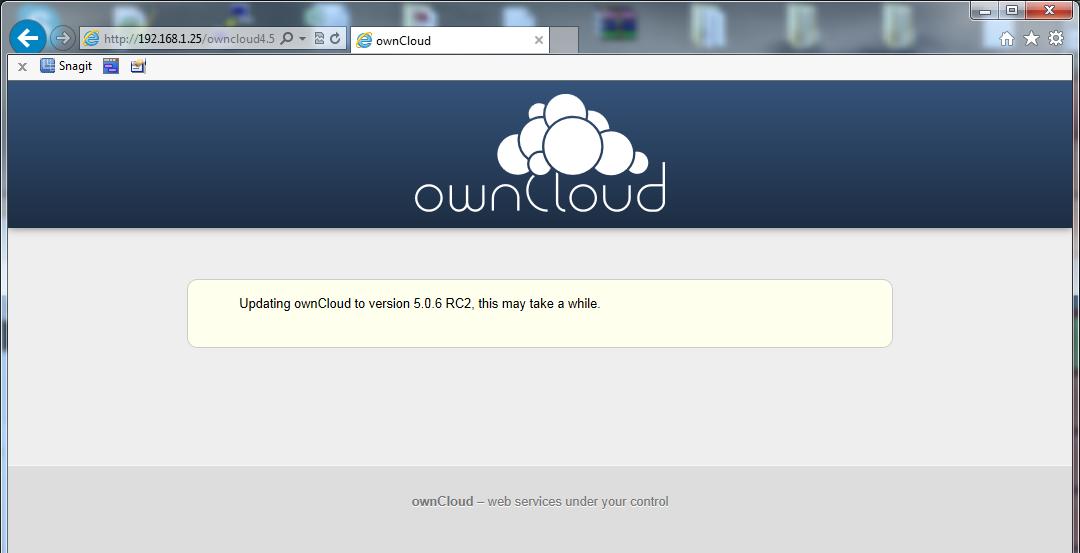 owncloud 5.0.9 server
