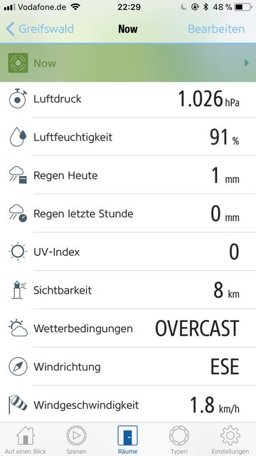 Current Conditions in Elgato Eve app