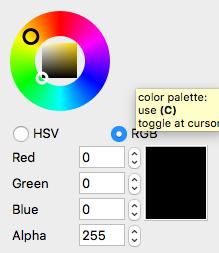 Resizing color wheel