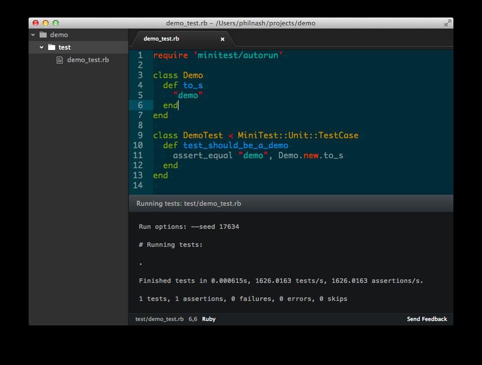 Ruby Quick Test screenshot