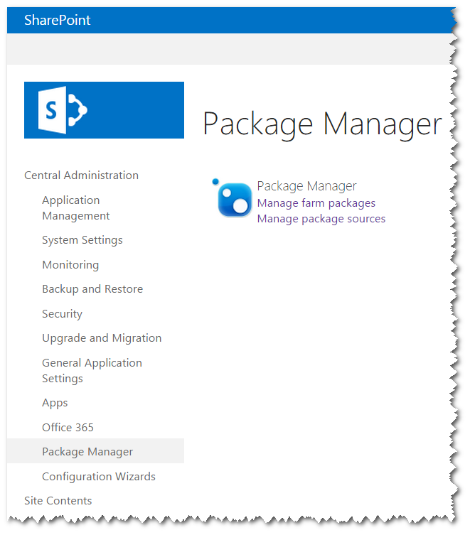 SharePoint Package Manager