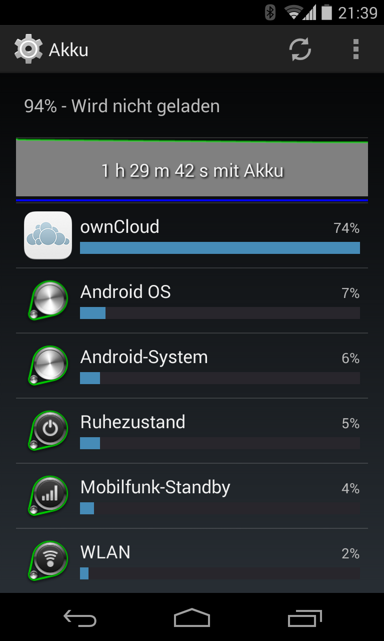 Enormous Battery Drain Issue 431 Owncloud Android Github