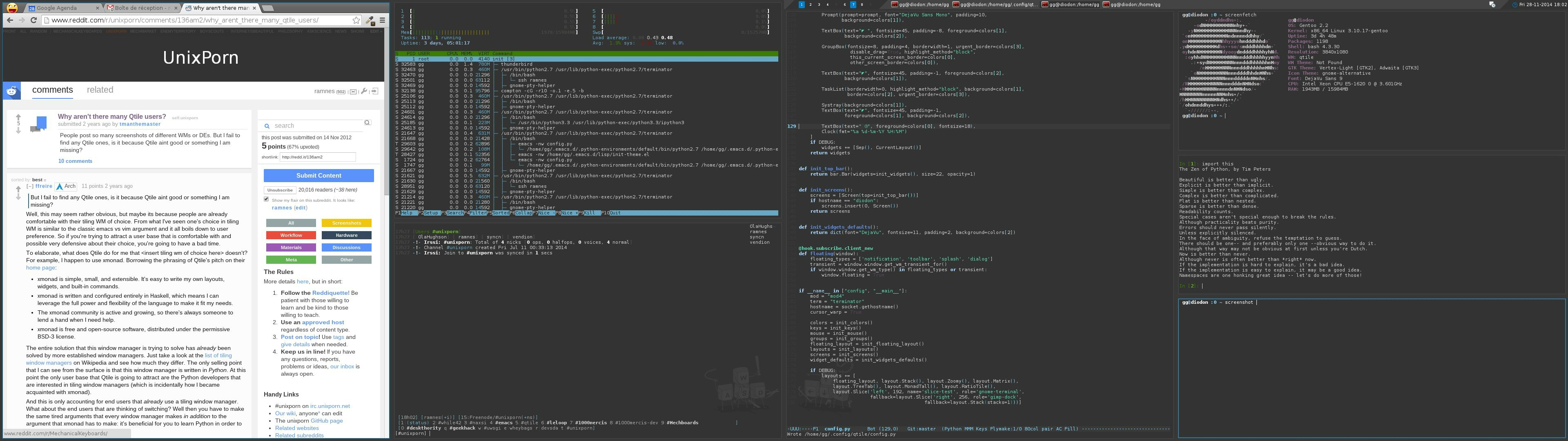 GitHub - ramnes/qtile-config: My ~/ config/qtile