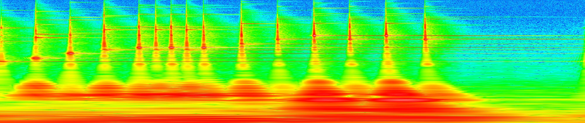 Glockenspiel spectrogram, decibel scaled