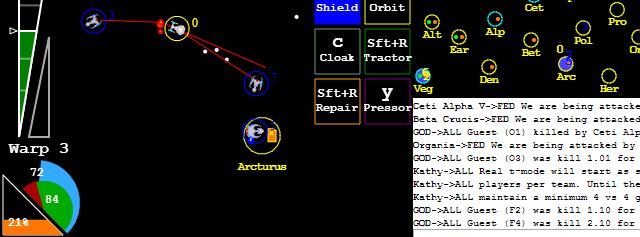 HTML5 Netrek screenshot