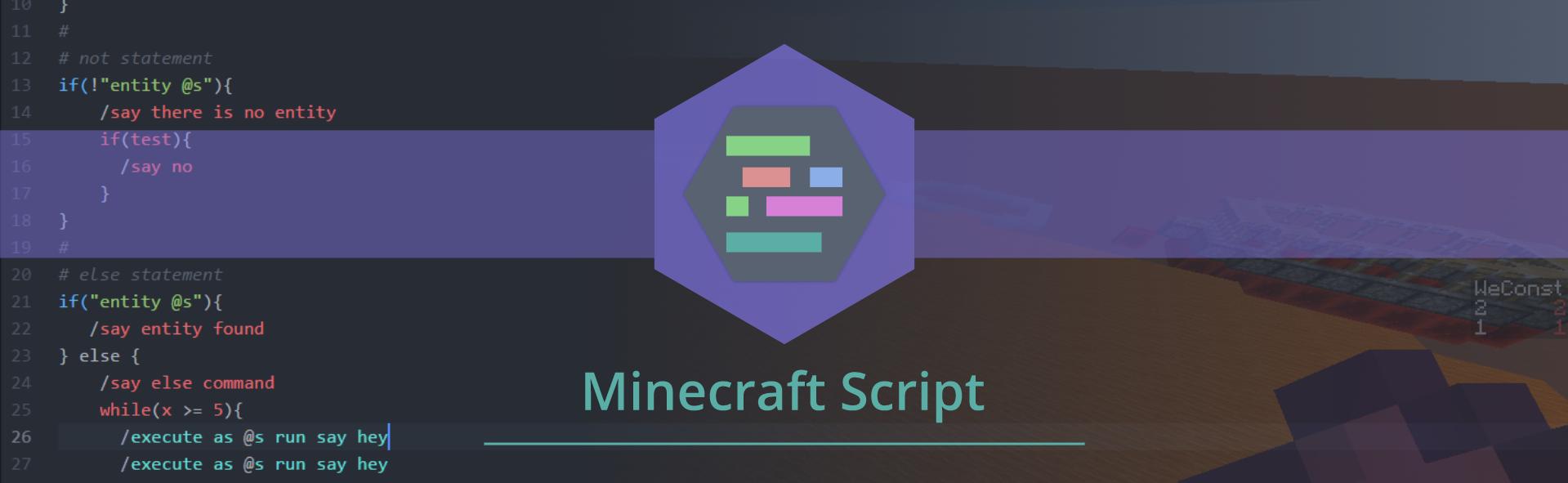 GitHub - Stevertus/mcscript: A programming language for