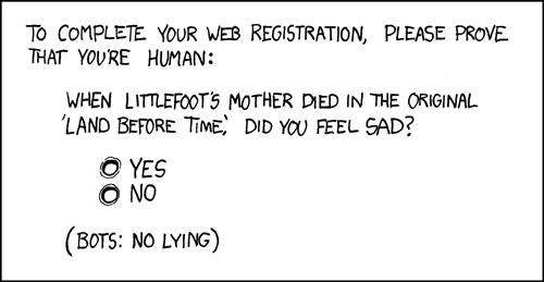 XKCD A new CAPTCHA approach