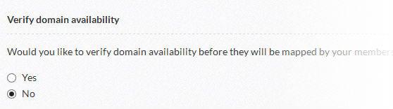 Enable/disable domain verification.
