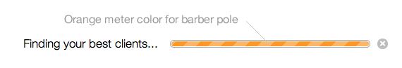 Meter Barber Pole Color