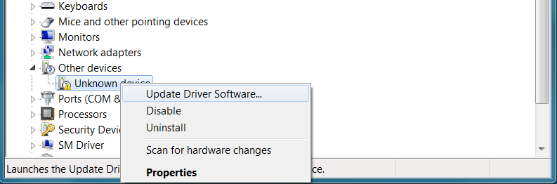 Update the driver software
