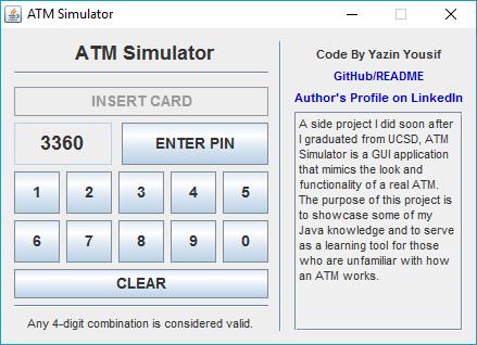 GitHub - yazin-yousif/ATM-Simulator: A side project I