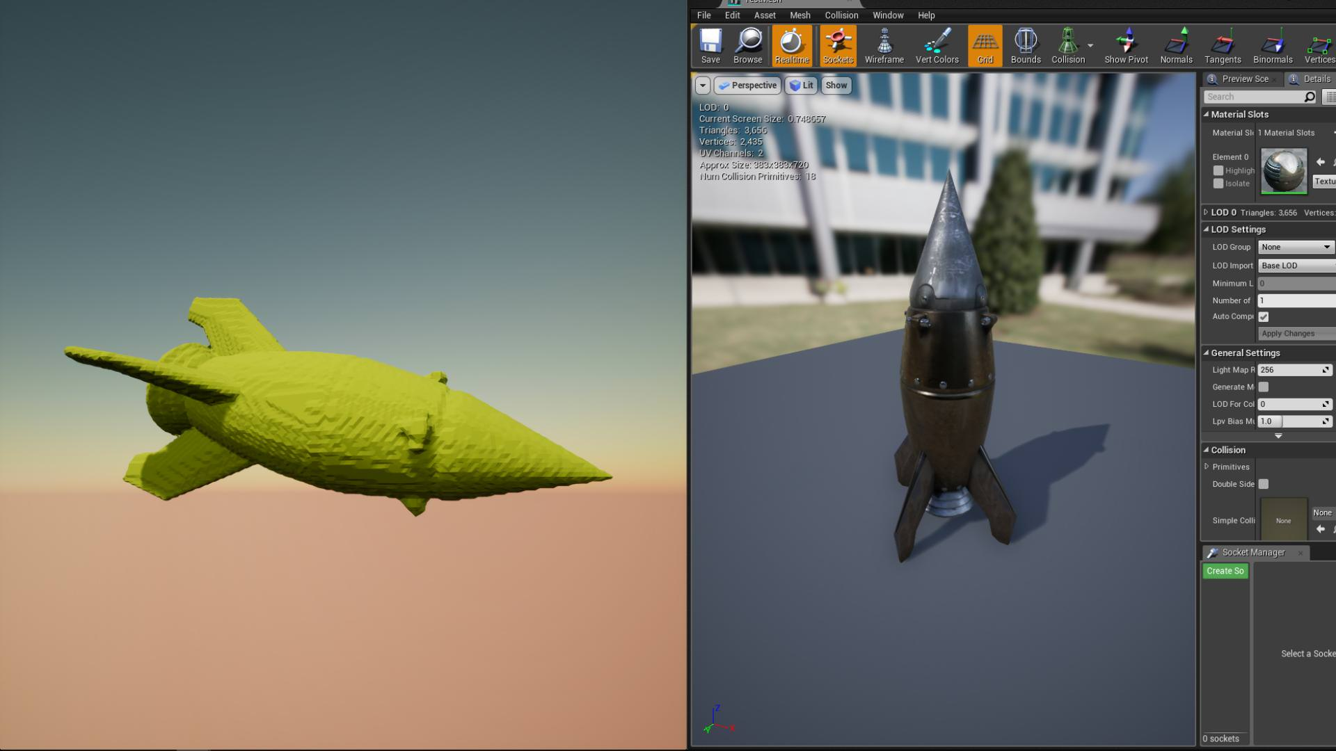 Import Meshes, Heightmaps, Landscape, Splines, MagicaVox assets, 3D Coat assets (Pro only)