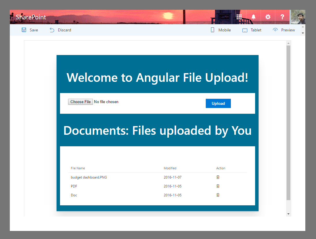 File Upload using Angular