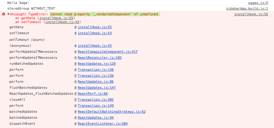 Error Cannot read property '_renderedComponent' of undefined