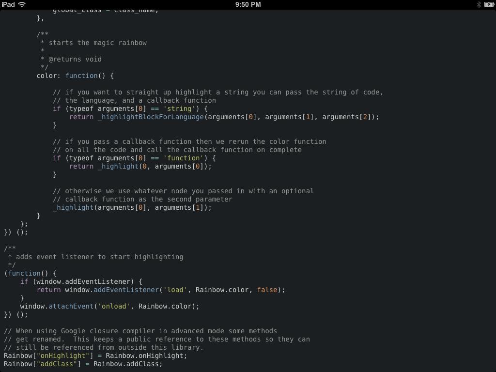 A screenshot of the sample app