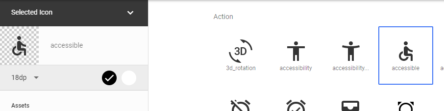 Material icons example