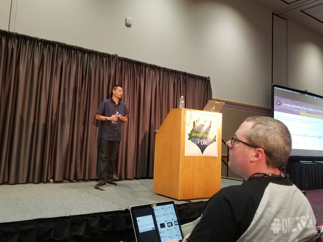 Speaking about Continous Delivery at DevOps Days Portland 2017