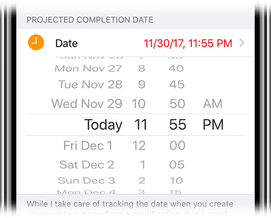 Time estimates tracker