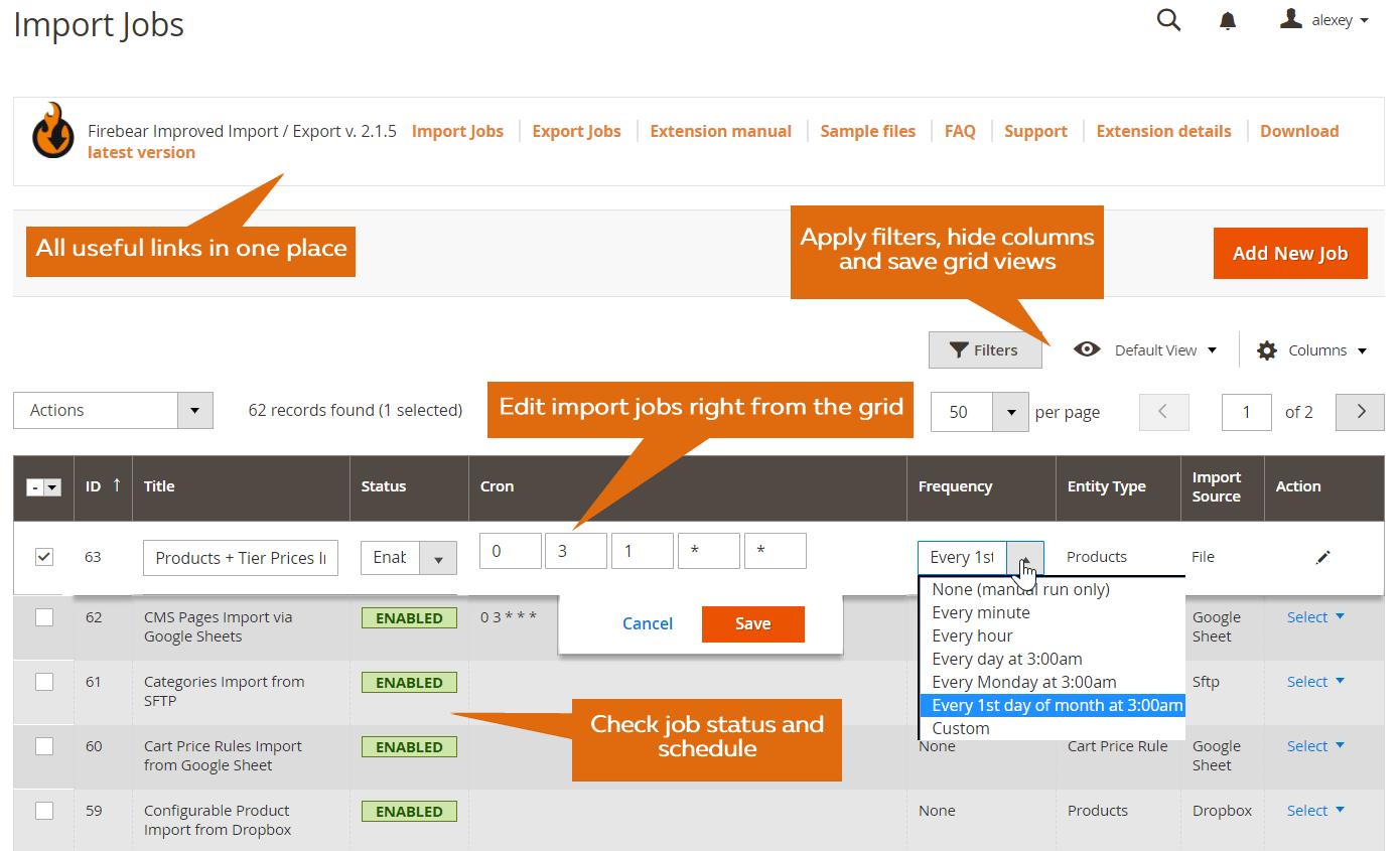 GitHub - firebearstudio/importexportfree: Improve default Magento 2