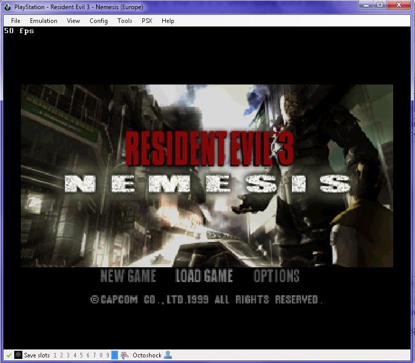 Resident Evil 3 Title Screen