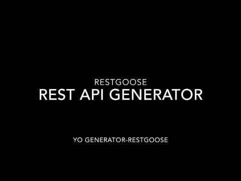 Generator-Restgoose in 5 mins or so