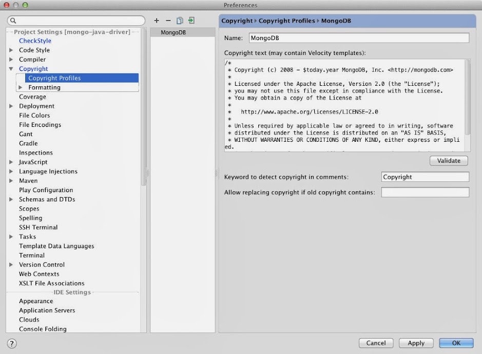 JETBRAINS DATAGRIP MONGODB - Getting Started: IntelliJ Setup