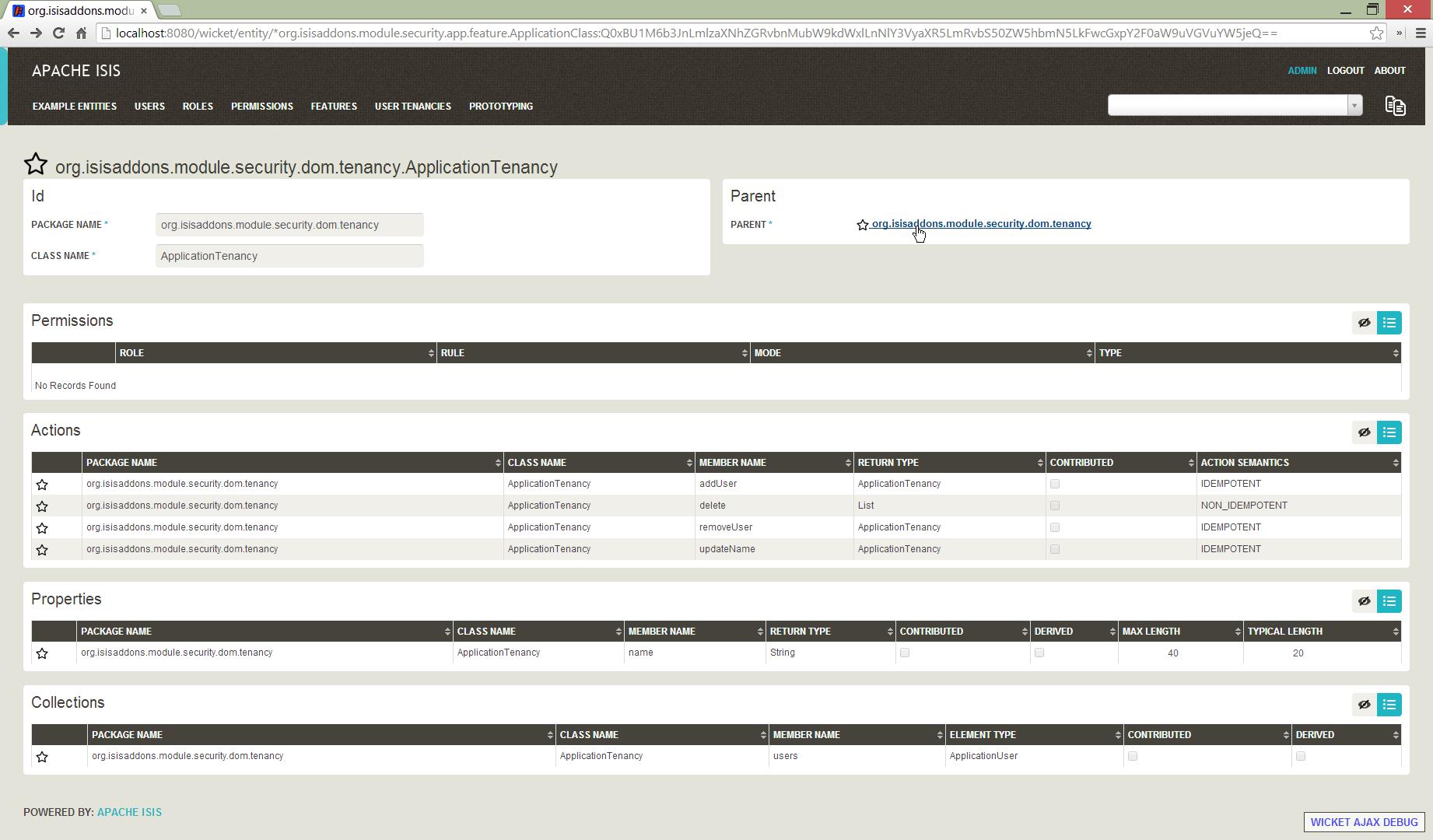 Screenshot Tutorial Isisaddons Legacy Isis Module Security Wiki