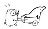 Go Gopher and MySQL Dolphin