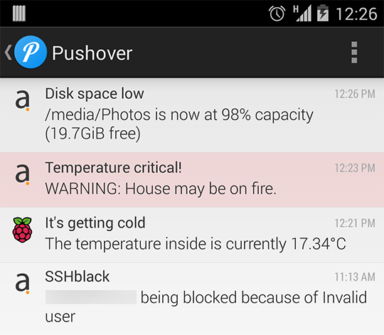 Pushover screenshot