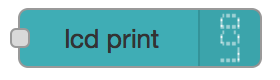 LCD Print Widget Node