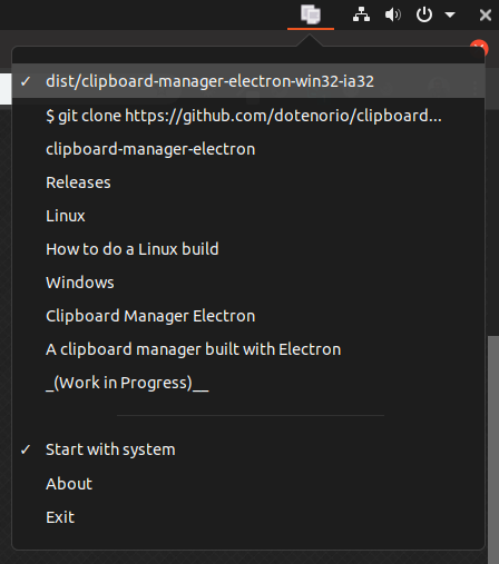 clipboard-manager-electron | Apps | Electron