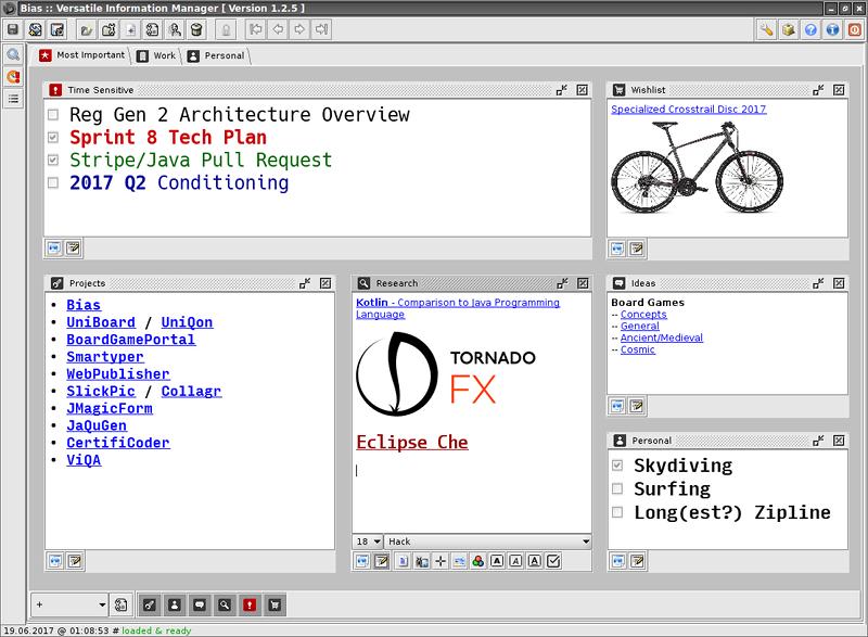 Bias screenshot