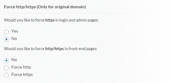 Domain Mapping - Front-end SSL