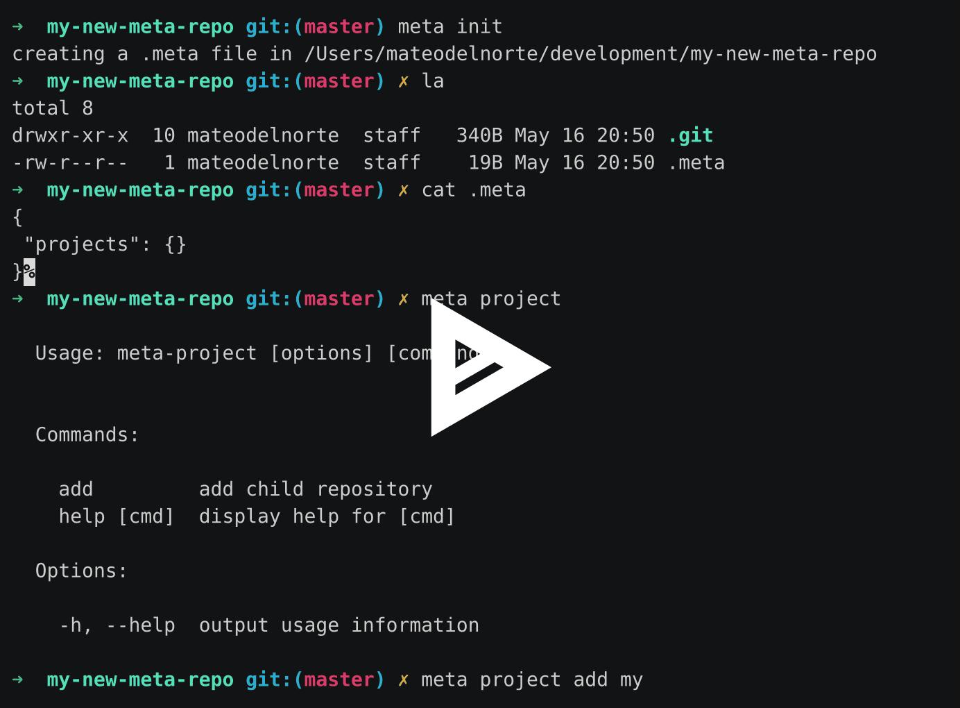 GitHub - mateodelnorte/meta: tool for turning many repos