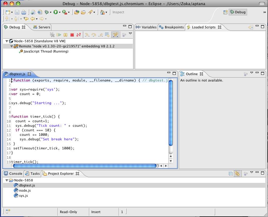 Using Eclipse as Node Applications Debugger · jhnns/node