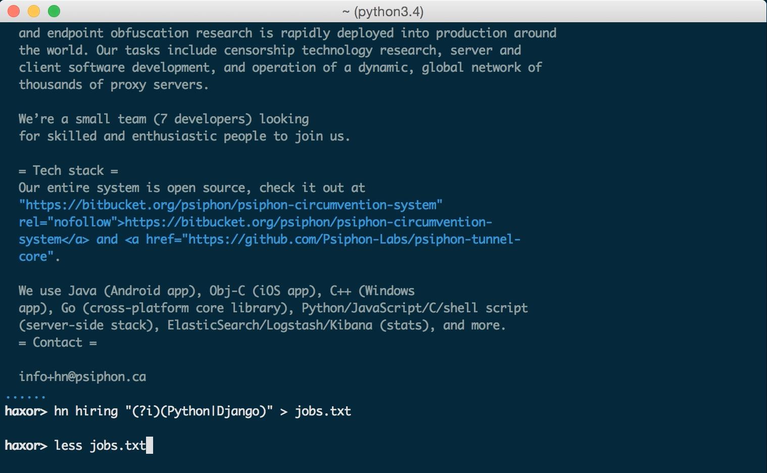 GitHub - donnemartin/haxor-news: Browse Hacker News like a haxor: A