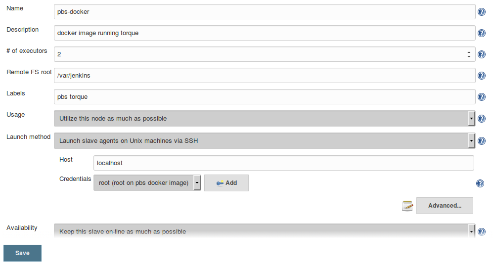 PBS plug-in Configuration